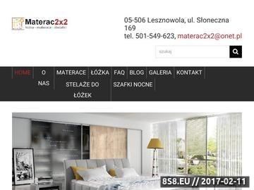 Zrzut strony Tanie materace Warszawa