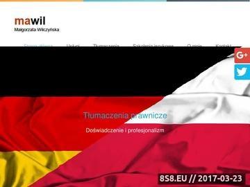Zrzut strony Niemiecki tłumaczenia przysięgłe Kabaty