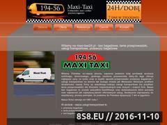 Miniaturka domeny www.maxi-taxi24.pl