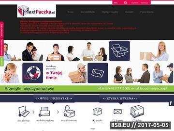 Zrzut strony Usługi Kurierskie Maxipaczka.pl
