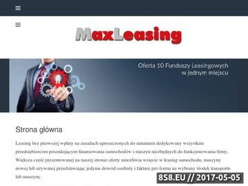 Zrzut strony Leasing