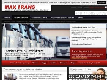 Zrzut strony Transport międzynarodowy i krajowy oraz spedycja