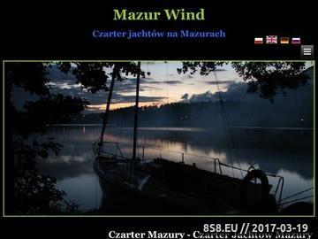 Zrzut strony Czarter jachtów Mazury
