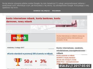 Zrzut strony Konto internetowe, mBank konto, konto darmowe