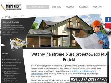 Zrzut strony Projekty architektoniczne Olsztyn