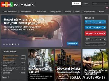Zrzut strony Domy Maklerskie mBanku S.A.