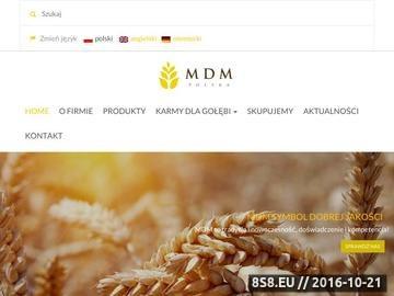 Zrzut strony Karmy dla gołębi MDM