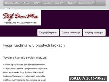 Zrzut strony Meble do kuchni Warszawa i wykończenia wnętrz pod klucz.