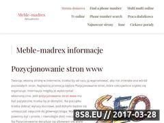 Miniaturka domeny meble-madrex.pl