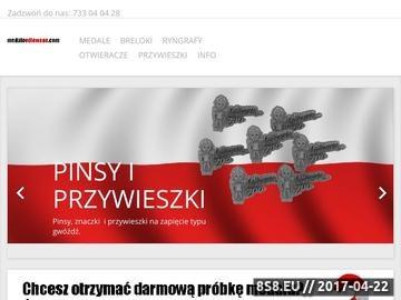 Zrzut strony Medale odlewane - producent