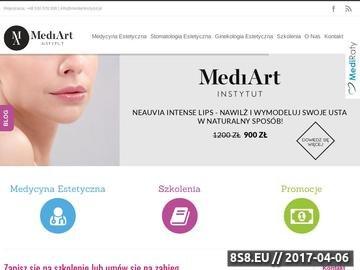 Zrzut strony MediArtInstytut - Medycyna Estetyczna Poznań