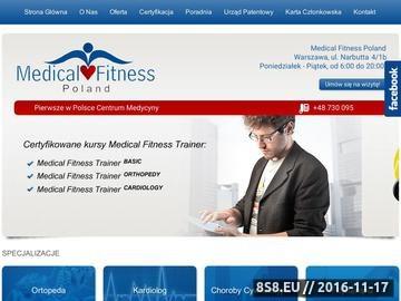 Zrzut strony Fitness Warszawa