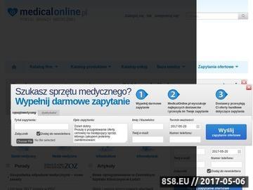 Zrzut strony Medical online