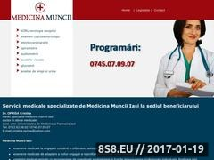 Thumbnail of Cabinet Medicina Muncii Iasi Website