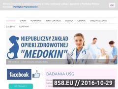 Miniaturka domeny www.medokin.pl
