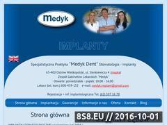 Miniaturka domeny www.medykdent.pl