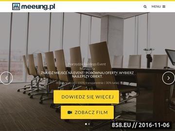 Zrzut strony Baza obiektów konferencyjnych