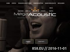 Miniaturka domeny www.mega-acoustic.pl