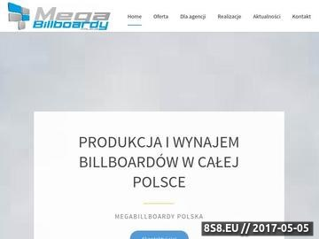 Zrzut strony Tanie billboardy - MegaBillboardy