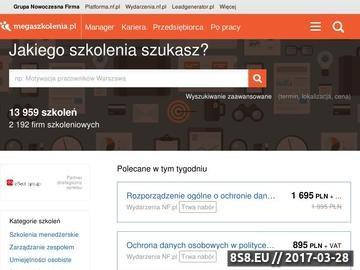 Zrzut strony Szkolenia nf.pl