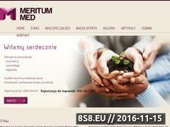 Miniaturka domeny meritummed.pl