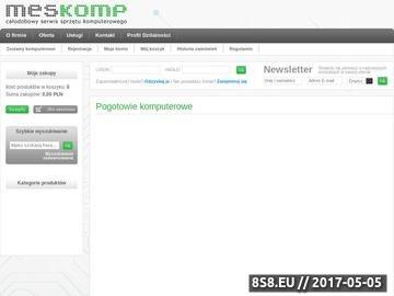 Zrzut strony Meskomp - całodobowy serwis sprzętu komputerowego