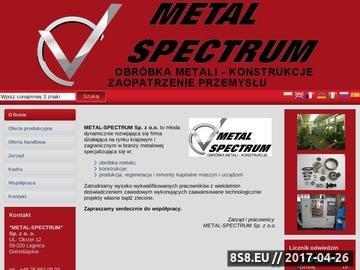 Zrzut strony Toczenie CNC i obróbka metalu - solidność z firmą Metal-Spectrum