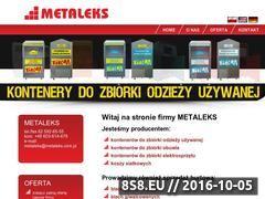 Miniaturka domeny www.metaleks.com.pl
