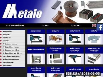 Zrzut strony Metalo Fasteners - zszywki do kartonu i łączenia ramek