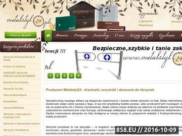 Zrzut strony Producent skrzynek na listy - metalstyl24.pl