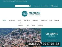 Thumbnail of Mexican Silver Store Website