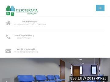 Zrzut strony MF- Fizjoterapia Rehabilitacja i Terapia Manualna we Wrocławiu