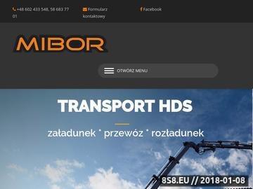 Zrzut strony MIBOR - Transport HDS, Transport kontenerów