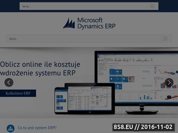 Zrzut strony System ERP - Microsoft Dynamics