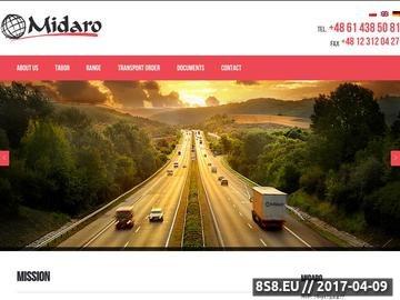 Zrzut strony Spedycja i transport krajowy oraz międzynarodowy