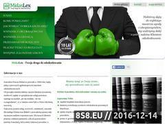 Miniaturka domeny www.midaslex.pl
