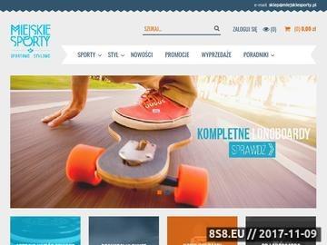 Zrzut strony Shortboardy - sklep dla aktywnych MiejskieSporty.pl