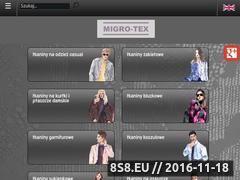 Miniaturka domeny www.migro-tex.pl