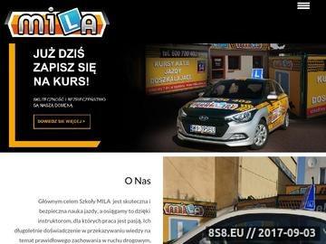 Zrzut strony Nauka Jazdy, Kurs Prawa Jazdy - Auto Szkoła - www.mila.waw.pl