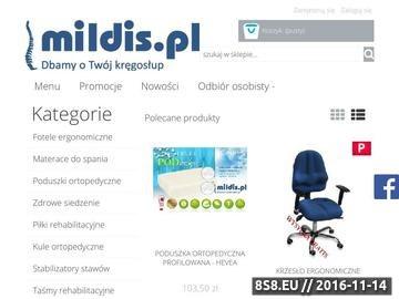Zrzut strony Mildis.pl Dbamy o Twój kręgosłup