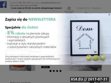 Zrzut strony Sklep ze skandynawskimi dodatkami do domu