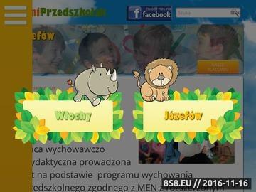 Zrzut strony MiniPRZEDSZKOLAK - przedszkole niepubliczne i żłobek w Józefowie.