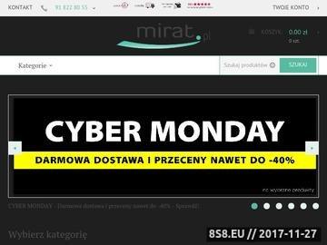 Zrzut strony Mirat.pl - Tysiące produktów w jednym sklepie