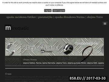 Zrzut strony Pneumatyka - obejmy, opaski, złączki i węże - PHU Miromatic