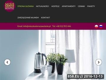 Zrzut strony Apartamenty i Hostele w Warszawie - Massimo