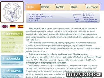 Zrzut strony Aktywne neutralizatory ładunków elektrostatycznych