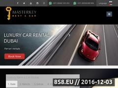 Thumbnail of Masterkey rent a car Website