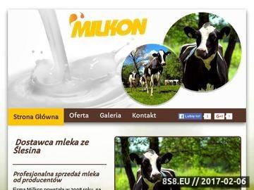 Zrzut strony Milkon - spółdzielnia mleczarska