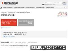 Miniaturka domeny mmakarate.pl