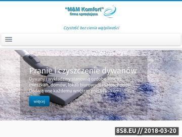 Zrzut strony M&M Komfort - firma sprzątająca - Rzeszów